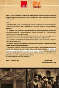 Adriano Mantovani e il terremoto dell'Irpinia, il premio