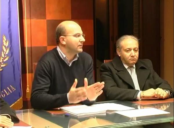 Il sindaco di San Giuliano di Puglia, Luigi Barbieri, col Consigliere regionale Nicola Eugenio Romagnuolo