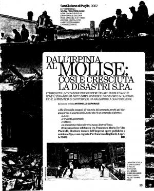 Dall'Irpinia al Molise: ecco com'è cresciuta la Disastri SpA