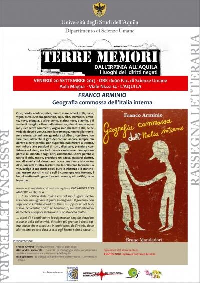 FRANCO ARMINIO: GEOGRAFIA COMMOSSA DELL'ITALIA INTERNA