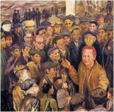 Rocco Scotellaro parla alla sua gente, di Carlo Levi