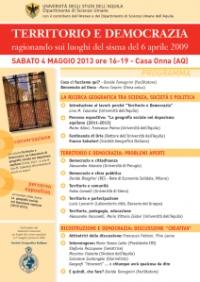 L'Aquila, 3,4 e 5 maggio: tre iniziative da segnalare