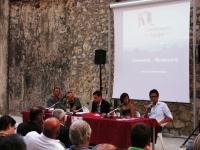 Un momento della presentazione del Rapporto 2011. Da destra: Alessandro Fusacchia, Teresa Caruso, Stefano Ventura, Franco Arminio, Antonello Caporale