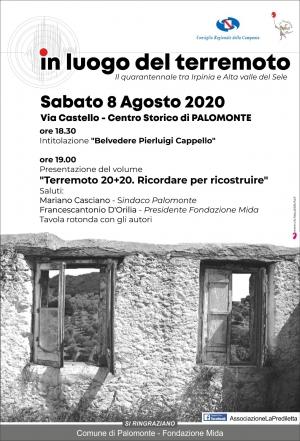 TERREMOTO 20+20, tavola rotonda a Palomonte